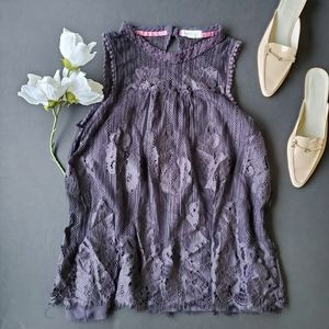 Taylor and sage purple lace blouse